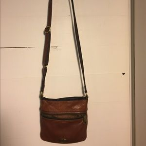 Fossil leather across body purse